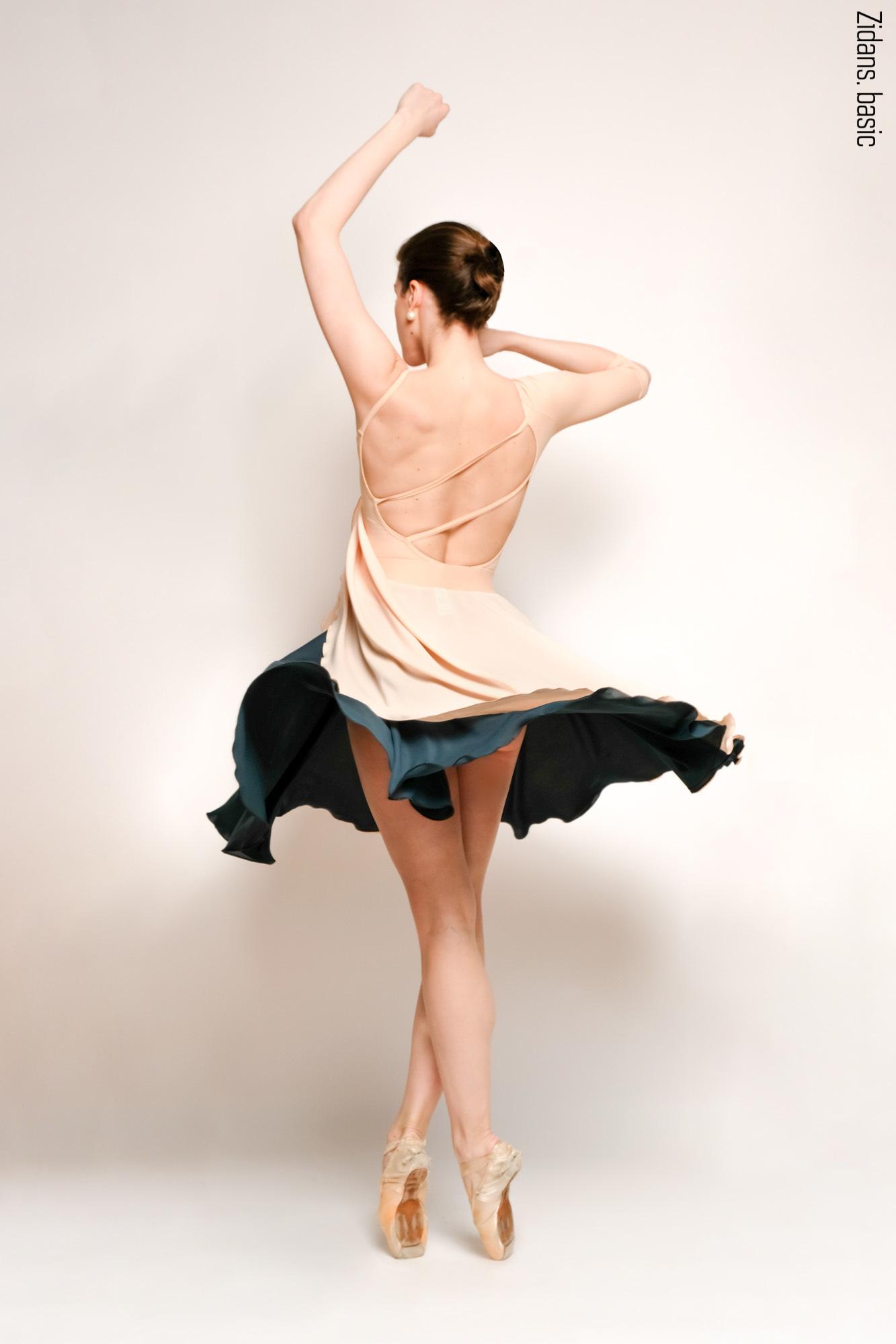 Emerald + plaster two-sided rehearsal skirt