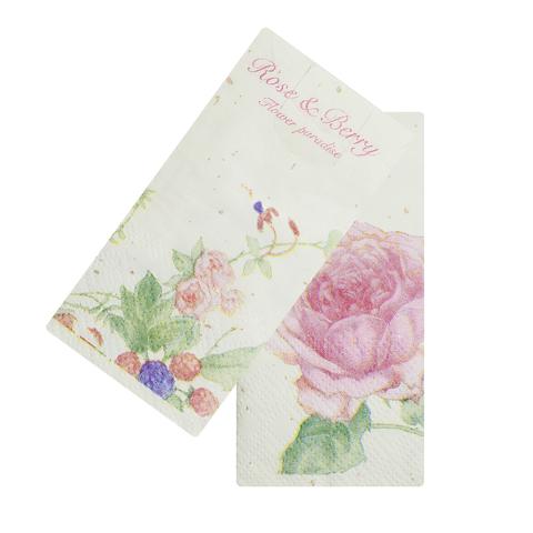 Платочки бумажные Roses