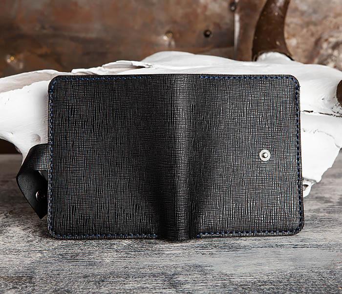 WB169-1 Кожаное портмоне ручной работы для документов фото 06
