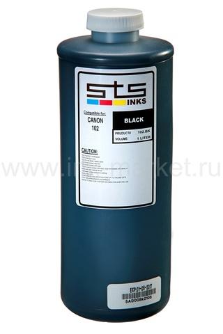 Водорастворимые чернила STS-INKS для Canon PFI-102/303/703, черные (Black), 1000 мл