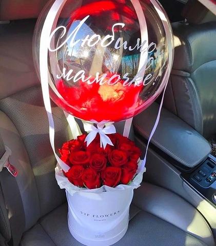 Цветы в коробочке и шар bubble #29292