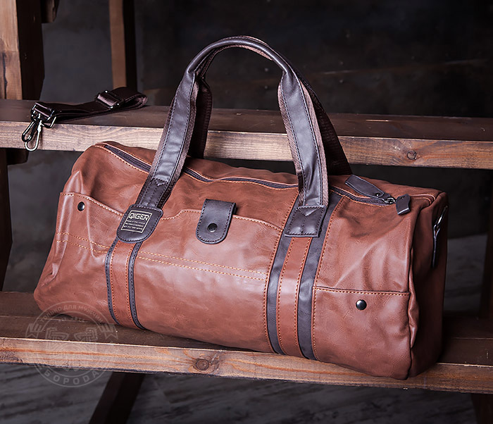 BAG408-2 Мужская сумка коричневого цвета из искусственной кожи