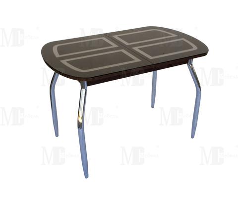 Стол обеденный МС мини прямоугольный черный, венге