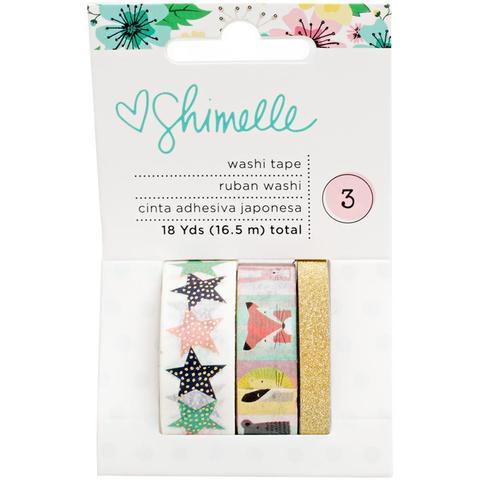 Набор скотчей - коллекция Little By Little Shimelle - American Crafts -3 шт.