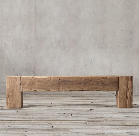 Reclaimed English Beam Large Console Table