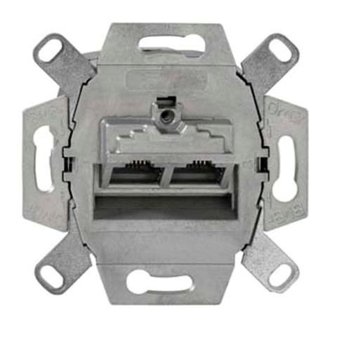 Розетка компьютерная двойная RJ45х2 кат.6. 138 104 070