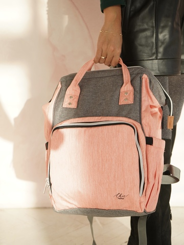Рюкзак ChicMama Bags сер-роз.