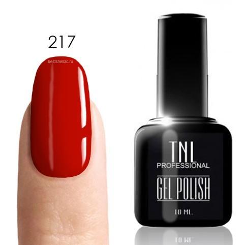 Classic Гель-лак TNL 217 - рубиново-красный, 10 мл 217.jpg