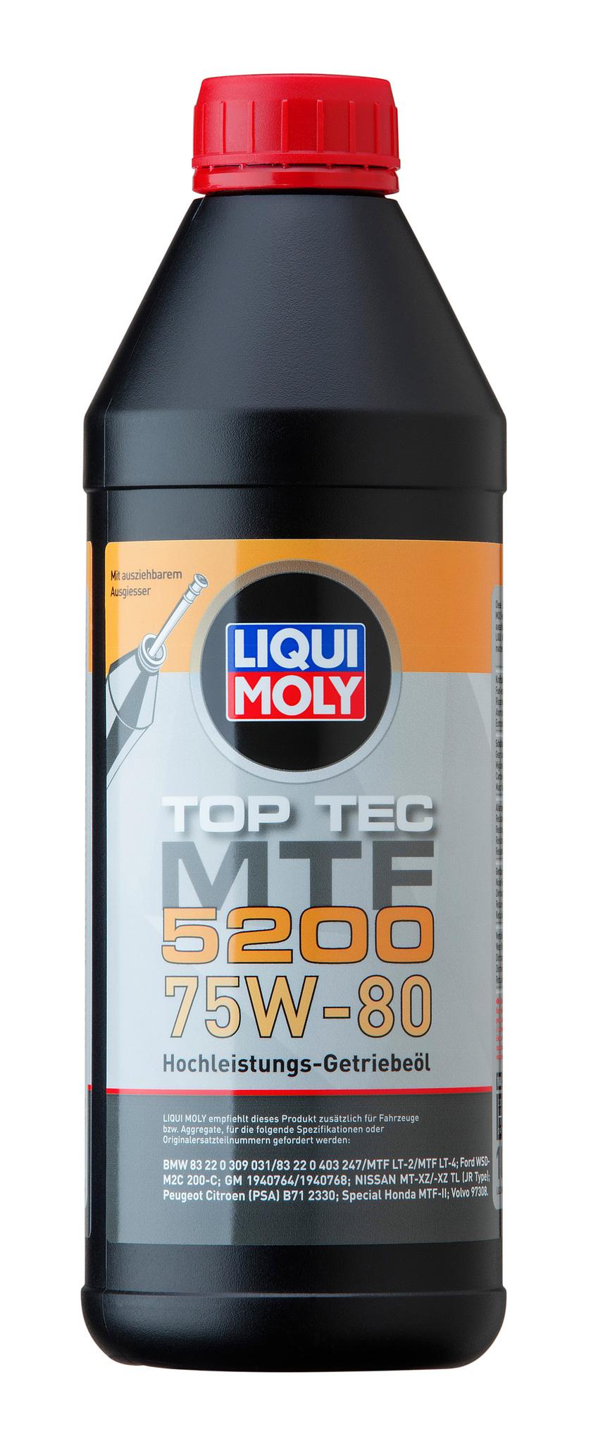 Liqui Moly Top Tec MTF 5200 75W80 НС синтетическое трансмиссионное масло