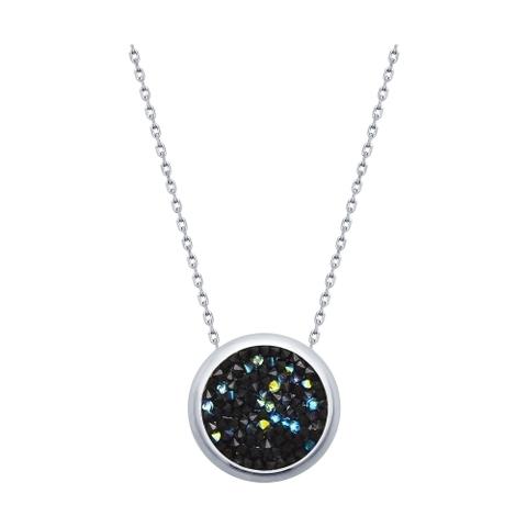 Колье из серебра с черными кристаллами SWAROVSKI арт.94070120