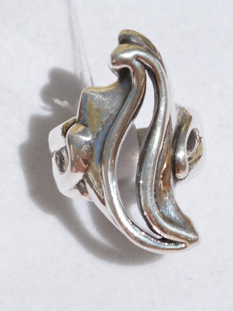 Вираж (кольцо из серебра)