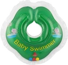 Baby-Krug. Детский круг для купания на шею, 0-24 мес зеленый (полуцвет)