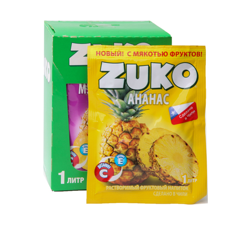 Растворимый напиток ZUKO Ананас 1кор*8бл*12шт 25 гр.