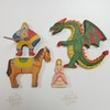 Рыцарь на коне, дракон, принцесса