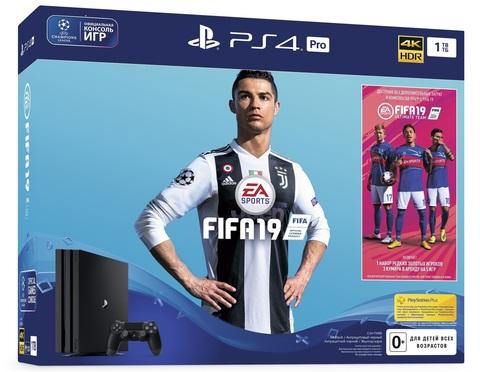 Sony PlayStation 4 Pro Black 1Tб (CUH-7200) + FIFA 19