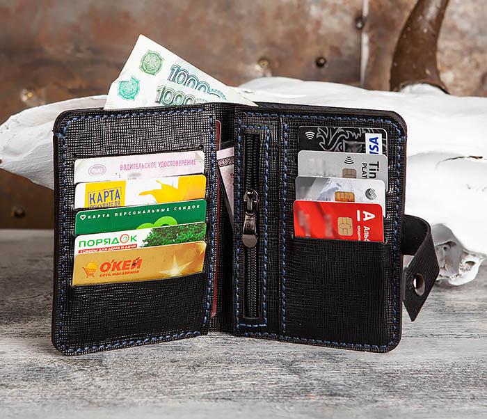 WB169-1 Кожаное портмоне ручной работы для документов фото 09