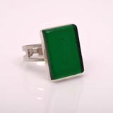 Кольцо Silver зеленое