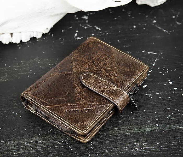 WL287-2 Мужское портмоне из кожи с монетницей фото 03