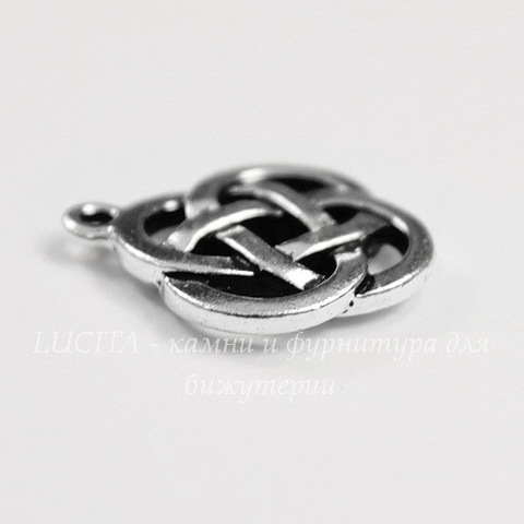 """Подвеска TierraCast """"Кельтский узел"""" (цвет-античное серебро) 20х18 мм"""