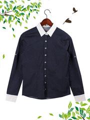 21012 рубашка женская, темно-синяя