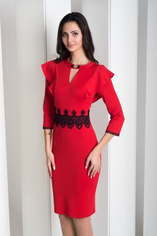 Нинель. Шикарное вечернее платье. Красный