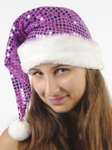 Новогодний Колпак фиолетовый