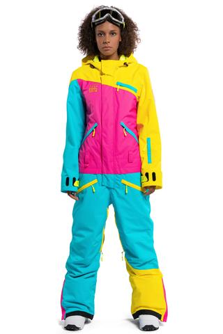COOL ZONE 19 MIX женский комбинезон для сноуборда желтый-цикламен