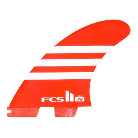 FCS II JW PC Tri Retail Fins Red/White Large