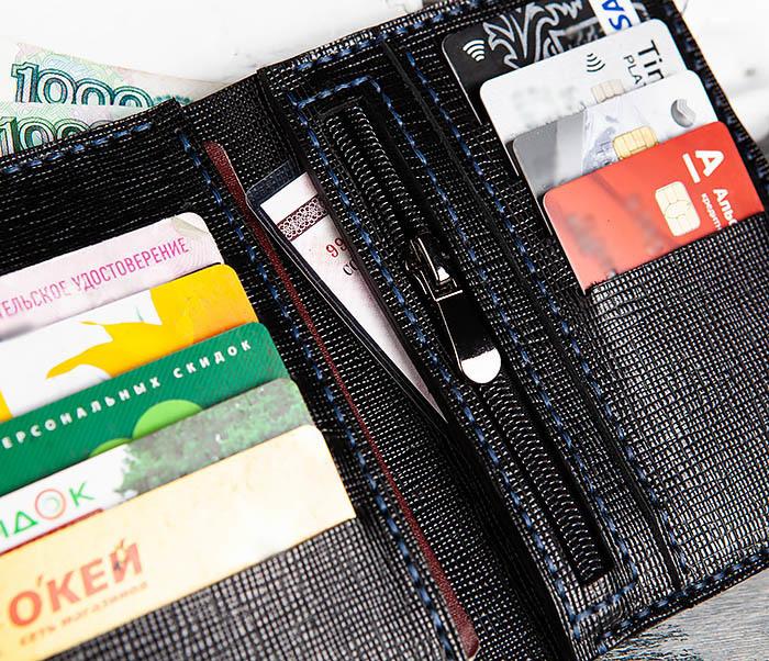 WB169-1 Кожаное портмоне ручной работы для документов фото 11