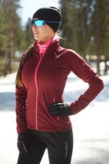 Женская элитная утеплённая лыжная куртка Nordski Elite G-TX Wine