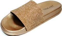 Стильные шлепанцы J.B.P. Shoes NU25 Gold.