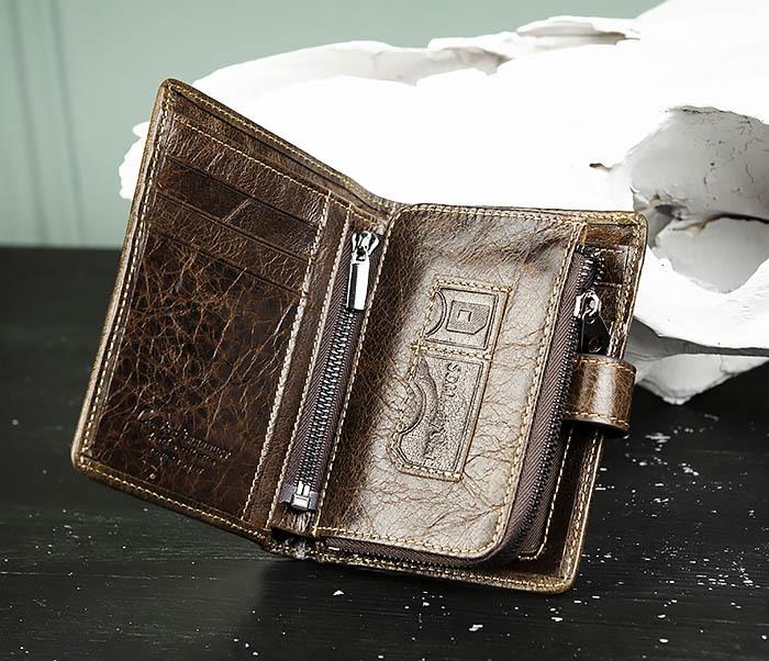 WL287-2 Мужское портмоне из кожи с монетницей фото 05
