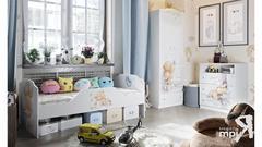 Набор детской мебели «Тедди» №2 (Белый с рисунком). Доставка Бесплатно.