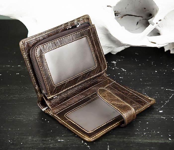 WL287-2 Мужское портмоне из кожи с монетницей фото 06