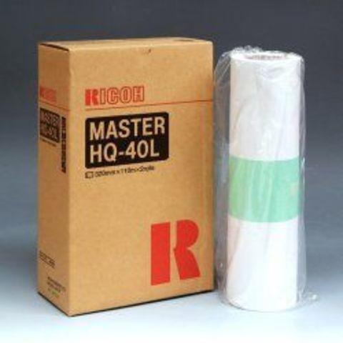 Мастер-плёнка (2 рулона в коробке) для дупликатора тип HQ40L для Priport JP4500, DX4542, 4545, DD4450 (2х110м) (893196)