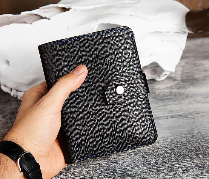 WB169-1 Кожаное портмоне ручной работы для документов фото 13