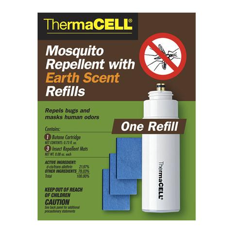 Набор запасной Thermacell с запахом земли (1 газовый картридж + 3 пластины)
