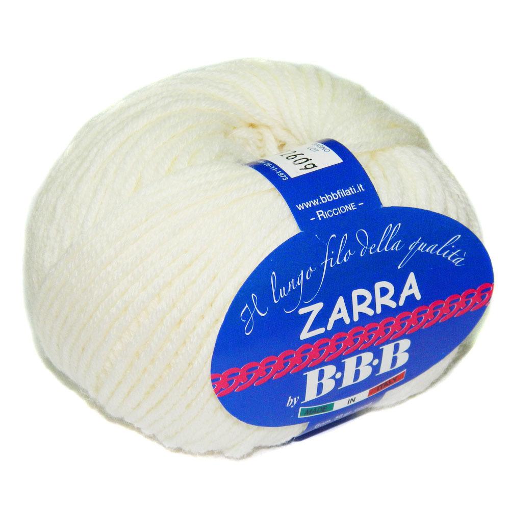Пряжа BBB Filati Zarra 7800 молочный