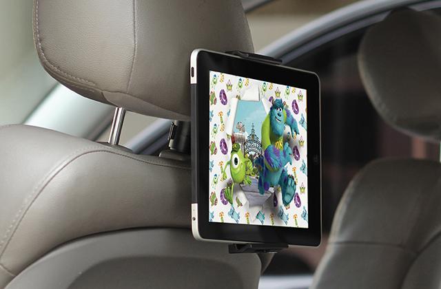 Автомобильный держатель Ppyple на подголовник для планшета