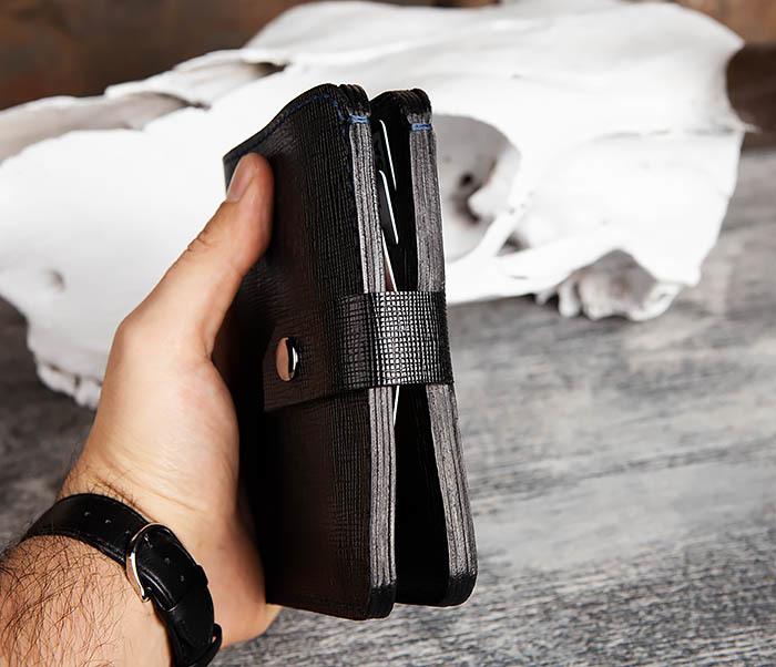 WB169-1 Кожаное портмоне ручной работы для документов фото 14