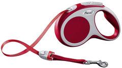Поводок-рулетка Flexi VARIO S (до 15 кг) 5 м лента красная