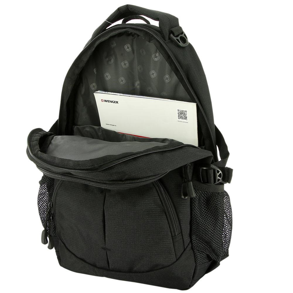 Рюкзак WENGER, цвет чёрный, 22 л., 45х33х15 см., 2 отделения (3001202408)
