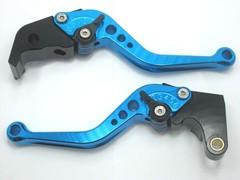 Короткие рычаги тормоза/сцепления для мотоциклов Buell Голубой