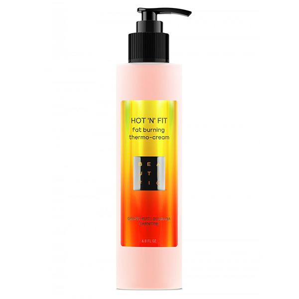 Крем для тела термоактивный для похудения с эссенцией Грейпфрута, Гуараной и Карнитином Beautific Hot-Fit Fat Burning Body Thermo-Cream 200мл