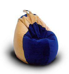 Кресло груша Сине-Желтое