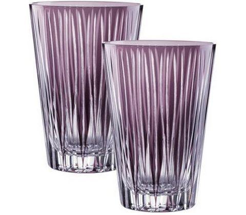 SIXTIES Lines Violet - Набор высоких стаканов из хрусталя, 2 штуки, 450 мл