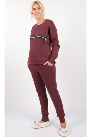 Спортивный костюм для беременных и кормящих 10026 бордовый