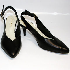 Босоножки с закрытым носком Kluchini 5190 Black.