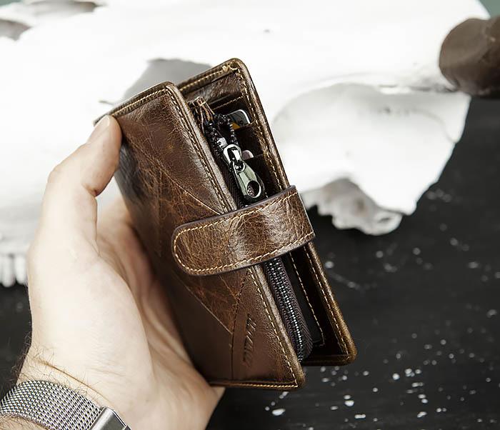 WL287-2 Мужское портмоне из кожи с монетницей фото 11