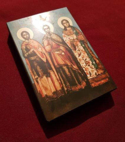 Икона святые Гурий, Самон и Авив на дереве на левкасе мастерская Иконный Дом